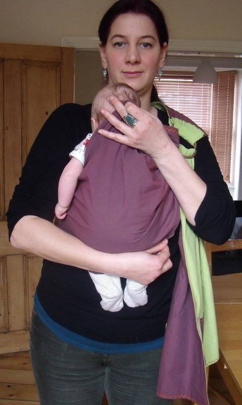 how to wear a ring sling with newborn